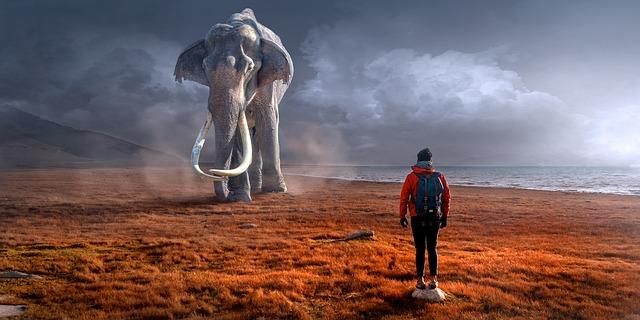 člověk u mamuta