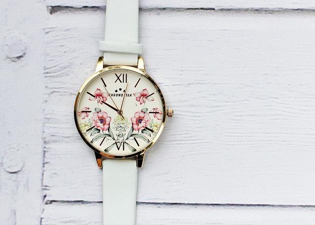 hodinky s kytičkami